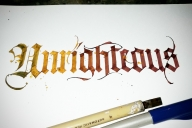 Kalligrafie Unrighteous