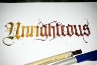 Kalligrafie Unrighteous