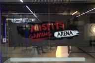 Schaufensterbeklebung für die Gamearena im Europacenter
