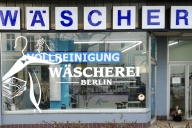 Schaufensterbeklebung Wäscherei Berlin