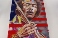 Acrylbild Jimi Hendrix