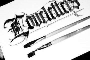 Paindesignart Kalligrafie